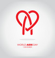 world heart day icon design brush style red heart vector image vector image