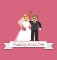 cute cartoon bride and groom vector image