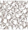 vintage apple seamless pattern vector image
