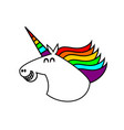 a funny of a unicorn vector image vector image