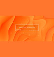 abstract background wave motion flow orange vector image vector image