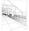 abstract industrial building constructions milk vector image vector image