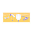 airplane parachute hot air balloon helicopter vector image vector image