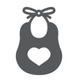 baby bib glyph icon child and clothes vector image vector image