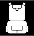 backpack the white color icon vector image vector image