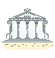 bank building line art style icon vector image