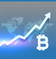 bitcoing growth chart design vector image vector image