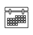 calendar date event meeting element icon vector image