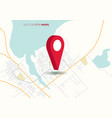 city map with big red pointer vector image