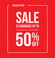 clearance sale 50 vector image vector image