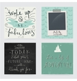 Collection of hand drawn motivation quotes vector image vector image