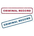 Criminal Record Rubber Stamps vector image vector image