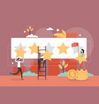 customer rating concept flat style design vector image