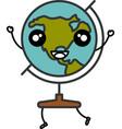 earth planet school kawaii character vector image