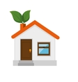 ecology house isolated icon vector image vector image