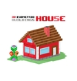 Family house building vector image vector image