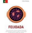 feijoada national portugal dish vector image vector image