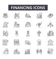 financing line icons for web and mobile design vector image vector image
