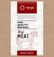 fine quality organic beef abstract meat vector image vector image