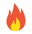 flammable symbol flat icon logistic vector image