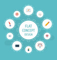 flat icons artist arrow pencil and other vector image vector image