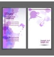 Flyer template Business brochure for design vector image vector image