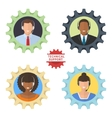 Four technical support flat vector image vector image