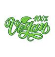 hand lettering vegan vector image vector image