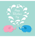 Happy Valentines Day Love card Pink and blue vector image vector image