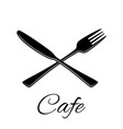 knife and fork icon silhouette in flat vector image vector image