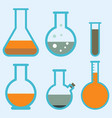 lab flask test medical laboratory scientific vector image vector image