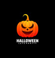 logo halloween gradient colorful style vector image