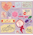 love old papers 380 vector image
