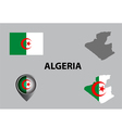 Map of Algeria and symbol vector image vector image