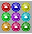 Maple leaf icon Set colourful buttons vector image vector image