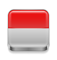 Metal icon of Indonesia vector image