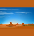 monument valley vector image vector image