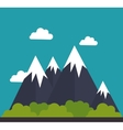 mountain landscape isolated icon vector image vector image