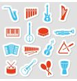 music instruments stickers vector image
