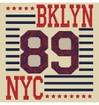 New york Brooklyn sport typography t-shirt vector image vector image