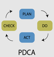 PDCA icon flat design vector image vector image