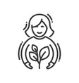 planting - modern single line icon vector image vector image
