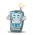 proud face phone character cartoon style vector image vector image