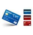 Realistic Credit Card two sides vector image vector image