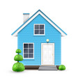 realistic house vector image vector image