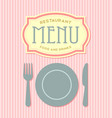 Restaurant menu cover template vector image vector image