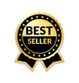 ribbon award best seller gold ribbon award icon vector image vector image