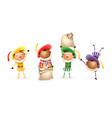 saint nicholas or sinterklaas helpers - happy cute vector image vector image