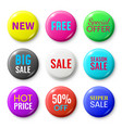 sale badges buttons special offer shop button vector image vector image