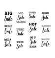sale calligraphy designs set vector image vector image